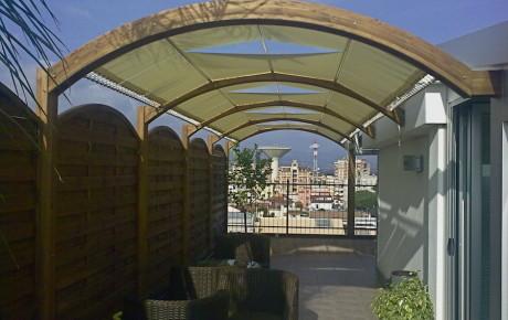 copertura legno lamellare per terrazzo