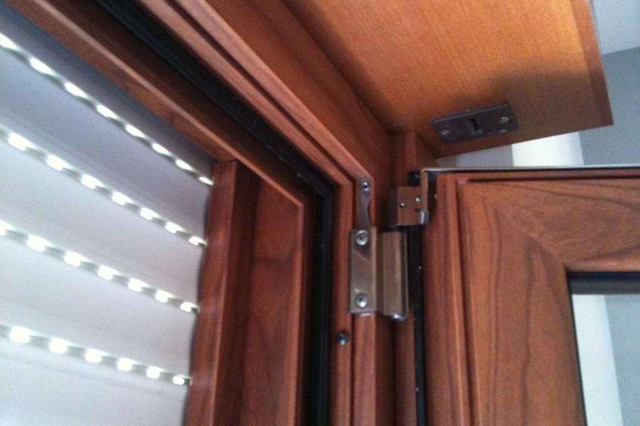 legno alluminio tende interno vetro