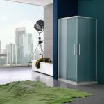 Box doccia alluminio e vetro satinato