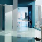 Box doccia anta battente con vetro satinato