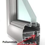 Sezione infissi in alluminio taglio termico