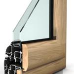 Sezione infissi in alluminio-legno
