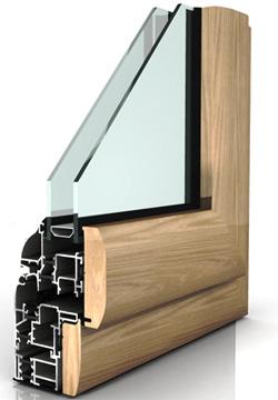 Infissi in alluminio ma co s a s di corbella m c - Finestre in alluminio e legno ...